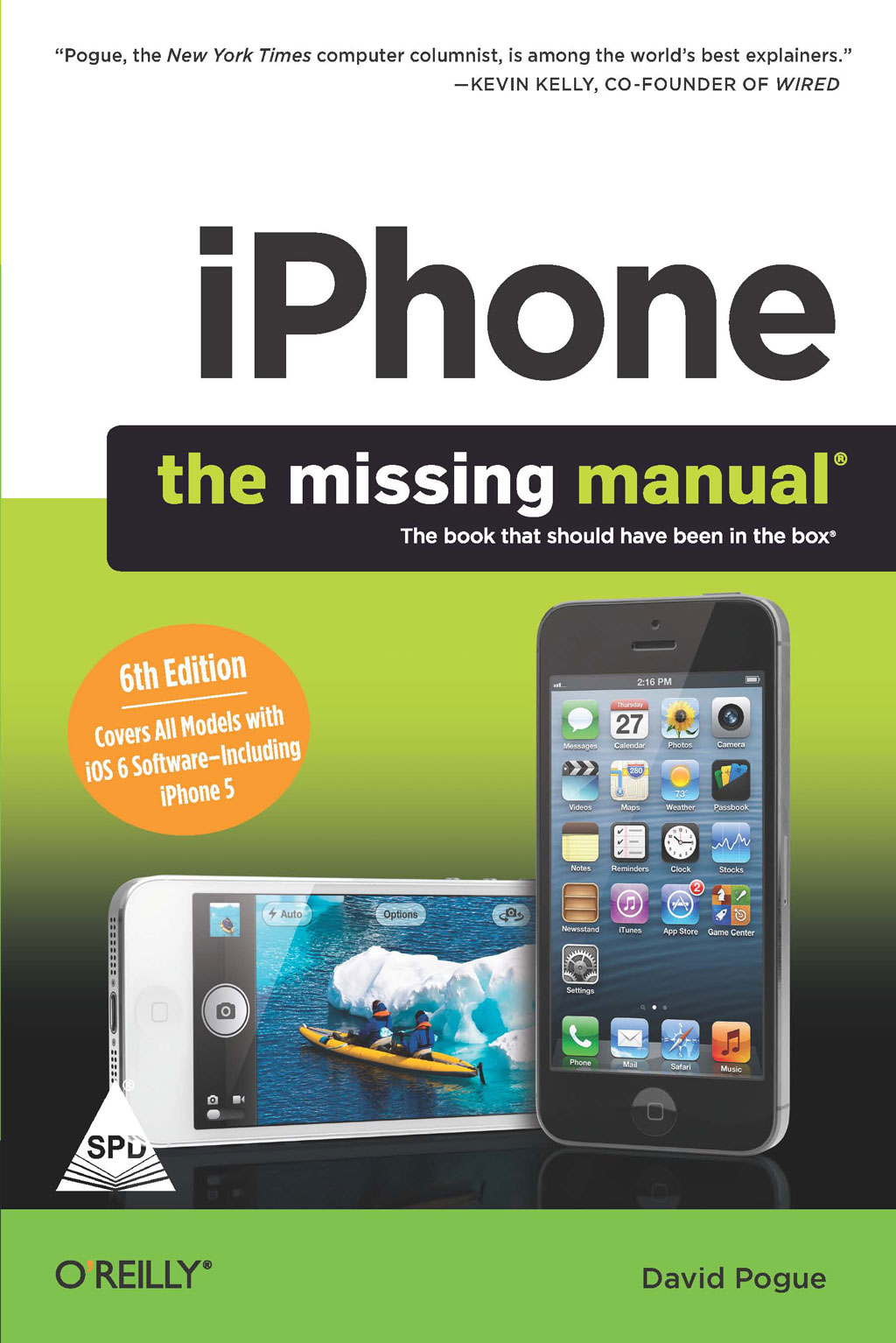 Books Iphone The Missing Manual 6 Ed Covers All Models With Ios Including 5 Grayscale Edition